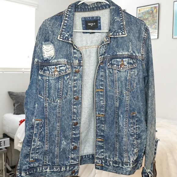Forever 21 Other - Distressed Denim Jacket